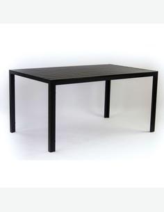 Badia big - Set da giardino in metallo e Polywood composto da un tavolo grande e quattro sedie impilabili