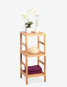 Matera - Scaffale in legno di noce massiccio oliato con 3 ripiani
