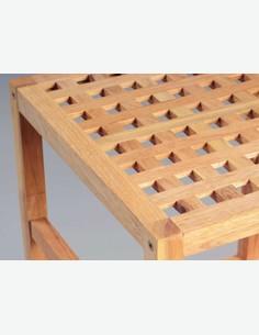 Matera - Scaffale in legno di noce massiccio oliato con 4 ripiani