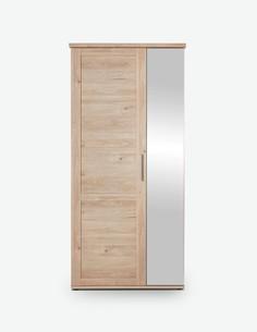 Carlotta - Garderobenschrank aus Holzdekor in der Farbe Eiche Jackson