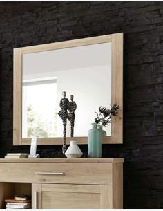 Carlotta - Specchio in legno laminato di colore quercia Jackson