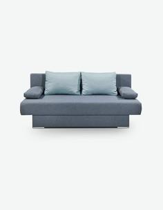 Marlena - Sofa aus Mikrofaser, in der Farbe anthrazit, bietet eine angenehme Schlafunktion