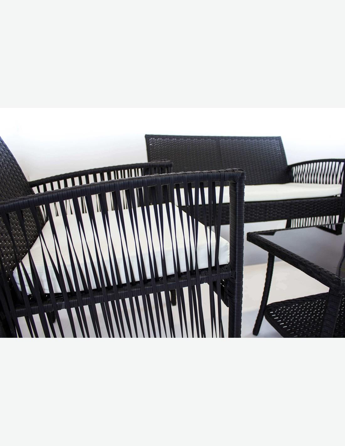 Cuscini Bianchi E Neri ideale per il balcone o per il proprio giardino. set di