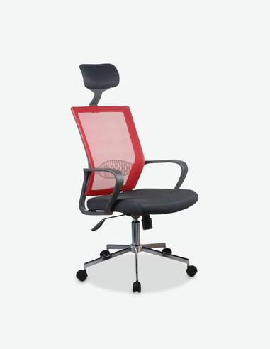 Lentiai - Sedia con poggiatesta, girevole e regolabile in altezza