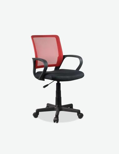 Rocca - Sedia d'ufficio girevole e regolabile in altezza, rosso