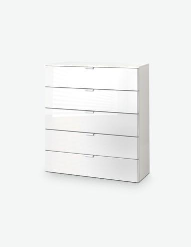 Edition - Kommode mit 5 Schubkästen, aus Holzdekor