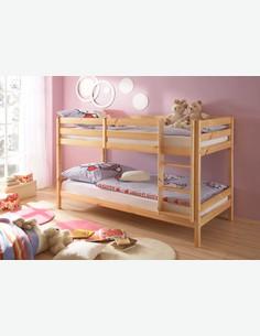 Coco Bianco AVANTI TRENDSTORE Dimensioni LAP 104x149x210 cm Disponibile in 2 colori diversi Letto a castello in legno di pino massiccio