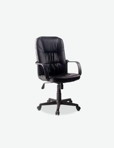 Alpago - Sedia girevole e regolabile in altezza. Materiale in similpelle nera con seduta e schienale rivestito