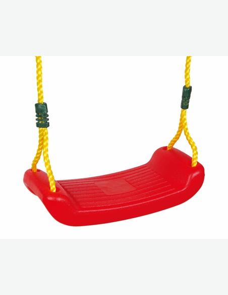 Malo - Seduta per altalena per bambini, colore rosso o verde, con corda ca. 2,65m su tutti e due i lati