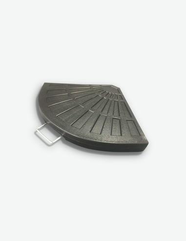 Cadore - Piede di appoggio per ombrelloni a braccio, in plastica sintetica con maniglia in metallo