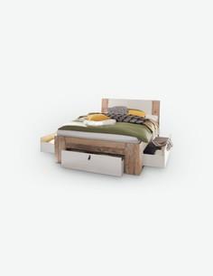 Carli - Fusto letto con 3 cassetti sottostanti