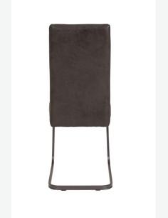 Camillo - Vintage Schwingstuhl aus Kunstleder, Gestell grau lackiert