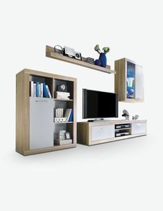 Mero - Moderne Wohnkombination - stilvoll und zugleich gemütliche Atmosphäre - LED Beleuchtung inklusive - Detail