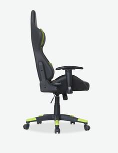 Diablo - Sedia d'ufficio regolabile in altezza, in similpelle e in tessuto di microfibra