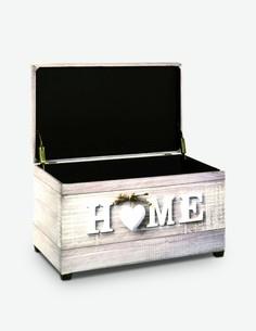 Home - Pouf contenitore in similpelle, disponibile in 2 diversi motivi