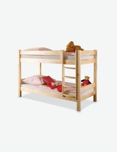 Coco - Letto a castello per bambini in legno di pino massiccio