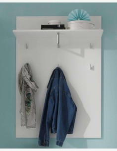 Spilla - Garderobenpaneel, 5 Haken, 1 Ablageboden mit Kleiderstange