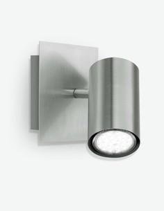 Maria - Faretto girabile, in metallo di colore nichel opaco