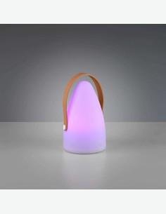 Holy - Lampada da tavolo a LED in plastica sintetica bianca
