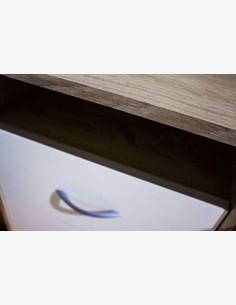 Adria - Scrivania in imitazione quercia Sonoma / bianco