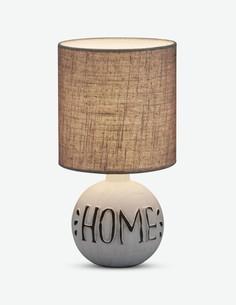 Elda - Tischlampe aus Keramik mit grauem Lampenschirm