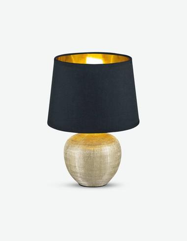 Lucienne - Lampada da tavolo in ceramica con paralume in tessuto