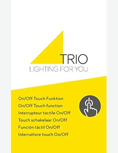 Gaby - Lampada da tavolo touch a LED in metallo di colore nichel opaco