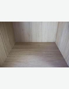 Vito - Scaffale con 1 compartimento, in legno laminato di colore quercia San Remo