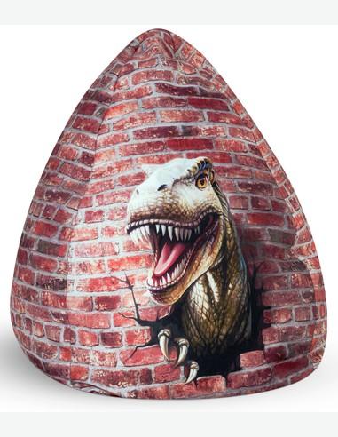 Dino - Sitzsack aus Mikrofaser, Dinosaurier motiv