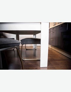 Nino - Panca da cucina senza schienale, telaio in metallo e imbottitura in microfibra