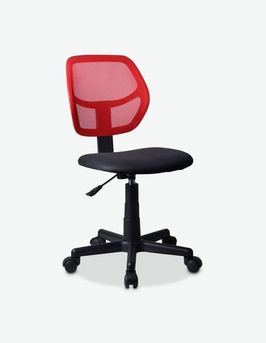 Pietore - Drehbarerer und höhenverstellbarer Bürostuhl, aus Mesh mit gepolstertem Sitz und atmungsaktiver Rückenlehne