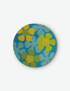 Showtime - Runder Teppich aus 100 % Polyamid, in Blumenoptik