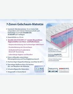 Premium - Materasso in poliuretano espanso, altamente traspirante, adattamento ergonomico al corpo