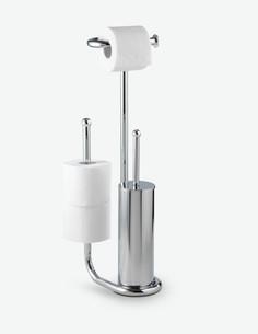 Universalo - Set da WC 3 in 1, in acciaio cromato. Perfetto per il tuo bagno