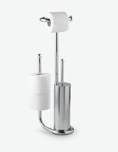 Universalo - WC Garnitur 3 in 1, aus verchromtem Stahl. Ideal für dein Badezimmer