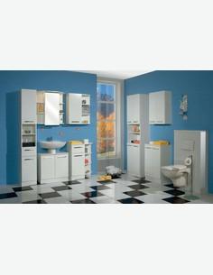 Blanco - Badezimmerschrank aus weißem Holzdekor