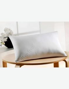 Memoryair - Cuscino in microfibra di colore bianco con ripieno in schiuma viscoelastica
