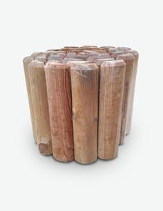 Rolli - Beetumrandung aus imprägniertem Nadelbaumholz, mit abgerundetem Kopf