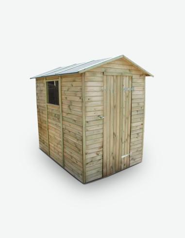 Arnara - Casetta da giardino per gli attrezzi in legno di pino impregnato