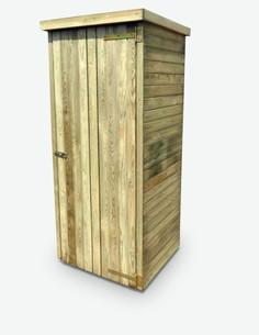 Aquino - Casetta da giardino per gli attrezzi in legno di pino impregnato