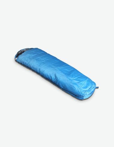 Sleeper - Sacco a pelo in poliestere di colore blu / grigio