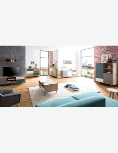 Caliope - Kommode in skandinavischem Design aus Holzdekor