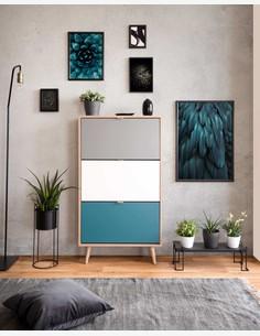 Caliope - Schuhschrank in skandinavischem Design aus Holzdekor