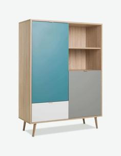 Caliope - Regal skandinavischem Design aus Holzdekor