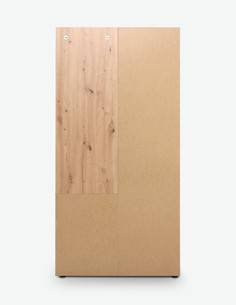 Jenis - Kompaktgarderobe aus Holzdekor in der Farbe Artisan Eiche / weiß