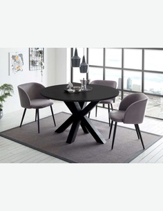 Mystic - Piano del tavolo MYSTIC, estraibile, realizzato in acciaio nel colore antracite