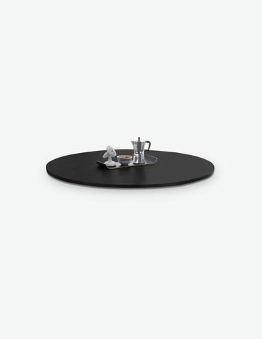Mystic - Tischplatte für den Esstisch MYSTIC, aus Stahl in der Farbe Anthrazit