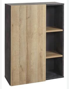 Caruso - Standregal mit 1 Tür und 2 Einlegeböden, aus Holzdekor in der Farbe Tadao / Eiche