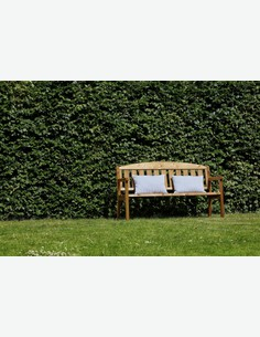 Triple - Panca da giardino con schienale in legno massiccio, giá impregnato