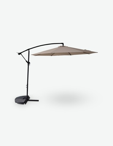 Piede di appoggio per ombrelloni a Braccio Cadore Dimensioni Lap 46x5,5x46 cm Peso: 20kg AVANTI TRENDSTORE in plastica Sintetica con Maniglia in Metallo